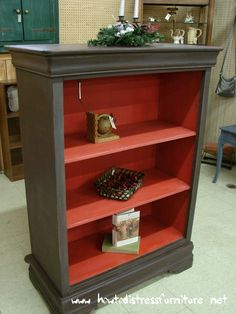 Like this color combo of Another Repurposed Chest - This Time Into A Distressed Bookcase!
