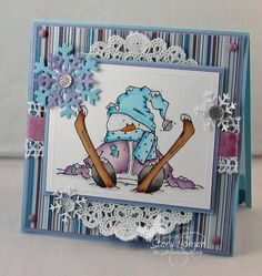 Snowman down... snowman down... ha! by Twinshappy - Cards and Paper Crafts at Splitcoaststampers
