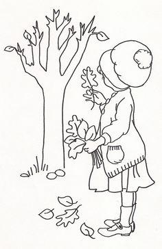 Girl Picking Up Leaves by jeninemd, via Flickr
