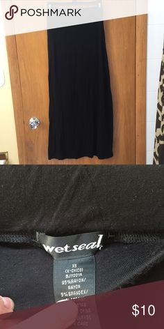 Plain black maxi skirt Plain black maxi skirt. Never worn! In great condition!! Unfair price?? Make me an offer  Wet Seal Skirts Maxi