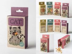 Fish, Bird, Dog & Cat by Sara Strand Sweets or Candy Packaging: A Sweet Treat For Your Inspiration Candy Packaging, Cool Packaging, Packaging Design, Branding Design, Packaging Ideas, Product Packaging, Corporate Design, Corporate Identity, Brand Identity
