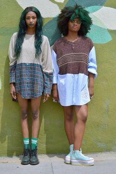 O.U.B.P.: Tendência : cabelos crespos e cacheados coloridos