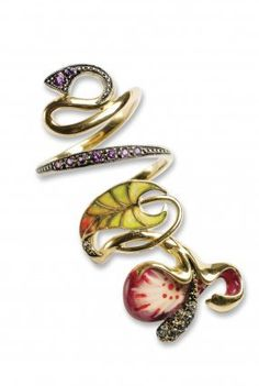 #carnetdemode.com         #ring                     #Nouveau: #Orchid #Ring   Art Nouveau: Orchid Ring                            http://www.seapai.com/product.aspx?PID=683298