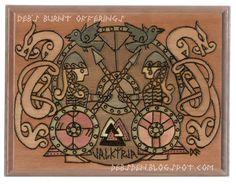 Valkyrja Wood Plaque Viking Norse by debsburntofferings on Etsy
