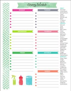 How to Create a Home Management Binder + FREE printable (and EDITABLE!) Cleaning Schedule Planner
