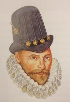This image depicts a man wearing a copotain. This hat was universally popular and remained so into the next century.