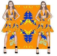 Auriele (desenhos de Moda): Estamparia