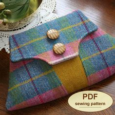 Sewing pattern to make the Home Guard Clutch Bag - PDF (email delivery). $9.00, via Etsy.