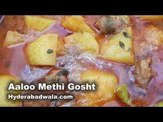 Hyderabadi Aalu Methi Gosht Recipe Video – How to Make Hyderabadi Mutton Potato Fenugreek curry - YouTube