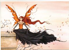 Amy Brown Fairies, Fb Cover Photos, Autumn Fairy, Sword And Sorcery, Mystique, Fantasy Dragon, Fb Covers, Red Queen, Fairy Art
