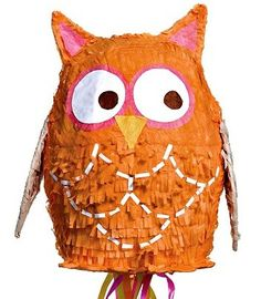 Adorable Owl Pull String Pinata! Super inexpensive. In Kara's Party Ideas Shop | KarasPartyIdeas.com/Shop