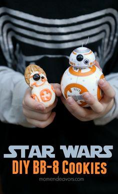 DIY No-Bake Star Wars Force Awakens BB-8 Cookies!!