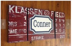 Really want a custom scoreboard! These, on etsy, are beautiful!