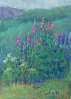 Artists Of Texas Contemporary Paintings and Art - Alaskan Fireweed by Jill Randall