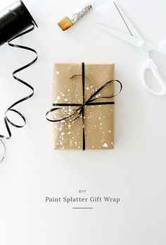four DIY gift wrap ideas | DIY Paint Splatter Gift Wrap