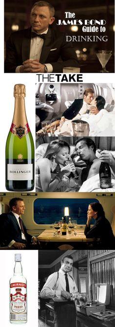 TheTake.com has James Bond's 10 favorite alcohol brands and drinks.