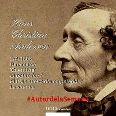 Efectivamente, nuestro autor de la semana es Hans Christian Andersen, nuestro 'cuentista' favorito, que nació un 2 de abril de 1505. En cinco minutos, os contamos algunas #CuriosidadesLiterarias sobre él. #AutoraDeLaSemana #Literatura #Leer #escribir #cuentos