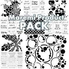 Maremi's 9 Product PACK all Stencil and Stickers for mixed media, art journaling Modeling Paste, Small Art, Stencil Designs, Collage Art, Collages, Transparent Stickers, Paper Background, Sticker Design, Paper Design