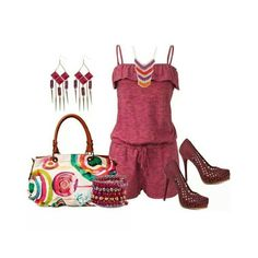 This is a cute kind of dressy outfit for the summer