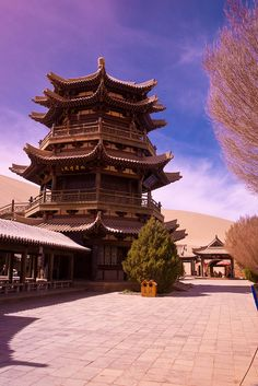 Silk Road China 2009 - 030 - Pagoda at Crescent Lake by newlite, via Flickr