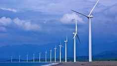 "See the best of Pagudpud, Ilocos Norte, (""Bangui Windmills,"" Photo Courtesy of via Wikimedia Commons) How Solar Energy Works, Solar Energy Cost, Renewable Energy, Save Energy, Ilocos Norte Philippines, Farm Projects, Energy Projects, Geothermal Energy, Power Generator"