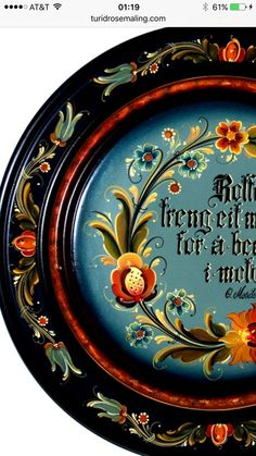Rosemaling Painted by Turid Helle Fatland, Norway