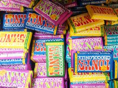 Fairtrade chocolate from Tony Chocolonely (Dutch brand)