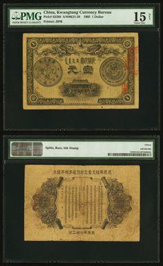 China Kwangtung Currency Bureau $1 1905