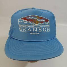 28d019647dd Vintage Branson Missouri Hat Adjustable Snapback Cap Trucker Mesh Nissin   Nissin  BaseballCap