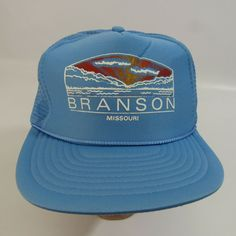 c19578125dc Vintage Branson Missouri Hat Adjustable Snapback Cap Trucker Mesh Nissin   Nissin  BaseballCap