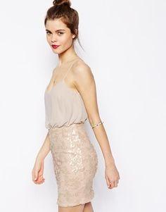 ASOS   ASOS Sequin Skirt Cami Dress at ASOS