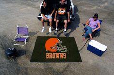 Large Cleveland Browns Logo Area Rug