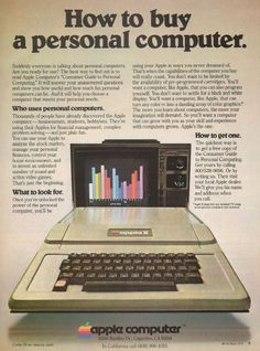 Old ad for the Apple II - I used to sell these back in the dst.