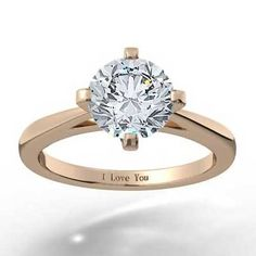 The North South East West 14k Rose Gold #engagementring epitomizes classic and upscale elegance.