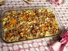 CAULI-NUGGET CASSEROLE - based on a hash brown casserole that our friend brought over one Christmas day. It was a total hit and this casserole is reminiscent of that one.