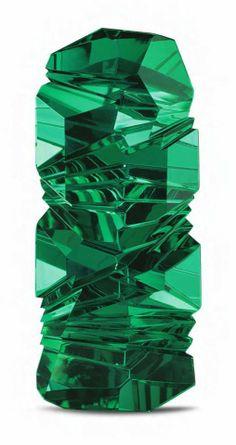 Berndt Munsteiner of Idar-Oberstein, the German centre of high quality gem cutting Green tourmaline sculpture