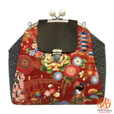 Sac A Dos Fait Main Tissu Japonais Motifs De Maikos Geishas Sur
