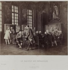 """Barthélemy, Jean-Jacques called the """"long abbot"""" in the coin cabinet of Paris (engraving) Past, Coins, Portraits, Cabinet, Painting, Clothes Stand, Past Tense, Rooms, Head Shots"""