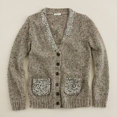 sparkly bits on a wooly cardi Possible diy