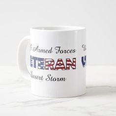 Veteran US Armed Forces Military Vet Large Coffee Mug