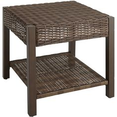 Pier 1 Imports Brown Echo Beach End Table ($230) ❤ liked on Polyvore featuring home, outdoors, patio furniture, outdoor tables, tables, brown, outdoor table, outdoor patio table, outdoor furniture and weatherproof outdoor furniture
