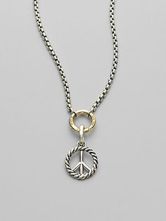 Carrie saxl peace sign pendant necklace 9000 bejeweld pinterest david yurman sterling silver peace enhancer at london jewelers love this necklace aloadofball Images