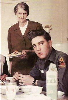 Elvis and his Grandmother Minnie