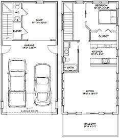20x40 House -- #20X40H7K -- 965 sq ft - Excellent Floor Plans