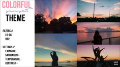 vsco filter tumblr sunset bright colors