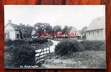 RARE 1930S PHOTO POSTCARD RP PIDDINGTON OXFORDSHIRE THATCHED HOUSE EDWARD LEACH