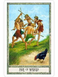 druidcraft tarot five of wands - Pesquisa Google
