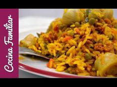 Paella riojana, receta casera
