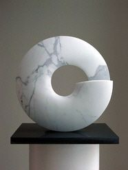 Spiral shaped marble sculpture
