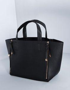Zip tote bag - SALE - Bershka Romania Ecuador e6d52768d4d06